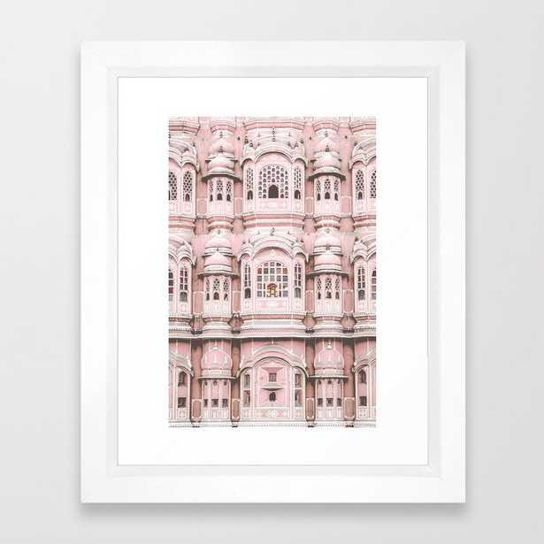 Hawa Mahal Pink Palace Framed Art Print - Society6