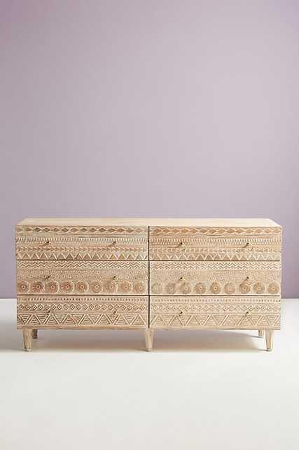 Handcarved Delhi Six-Drawer Dresser - Anthropologie