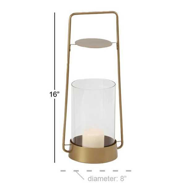 Rustic Glass and Metal Tabletop Lantern - Wayfair
