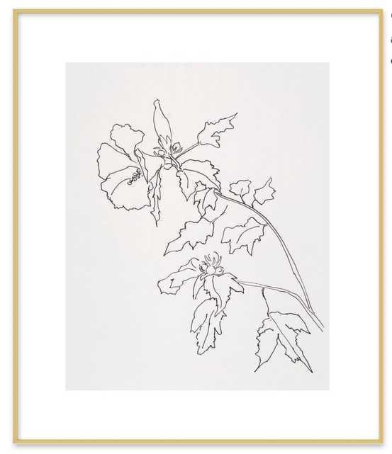 """Rose of Sharon Flower - 20""""x24"""" - Artfully Walls"""
