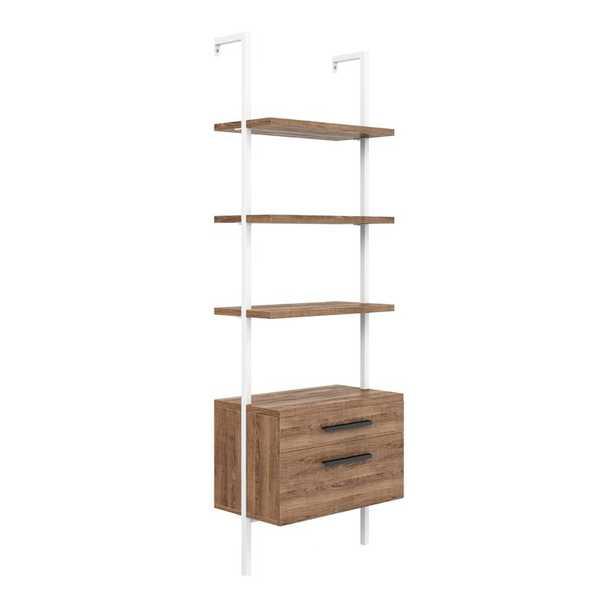 Zachary 72.44'' H x 24'' W Steel Ladder Bookcase - Wayfair