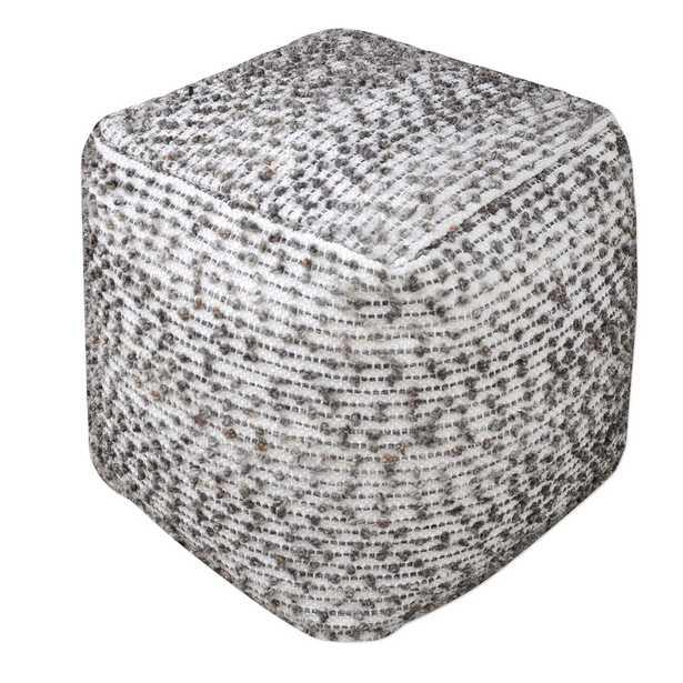 Valda Linen Wool Pouf - Hudsonhill Foundry