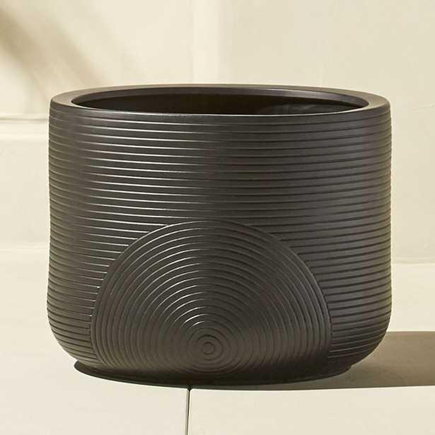 zen small black planter - CB2
