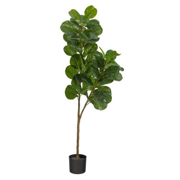 "Fiddle Leaf Fig Artificial Tree, 66"" - Fiddle + Bloom"