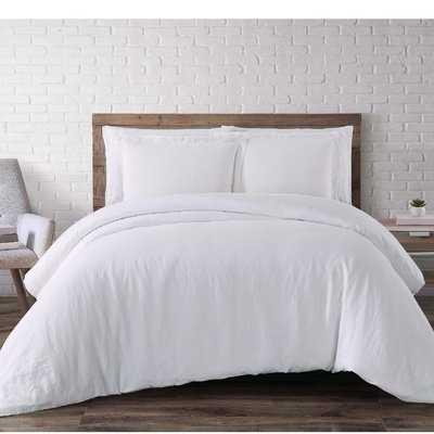 Beverly Linen 3 Piece Duvet Cover Set - FULL/QUEEN - Reversible - Wayfair