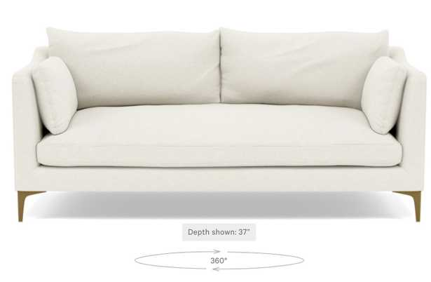Caitlin by The Everygirl Sofa in Cirrus Fleck with Brass Plated legs - Double down blend cushion upgrade - Interior Define