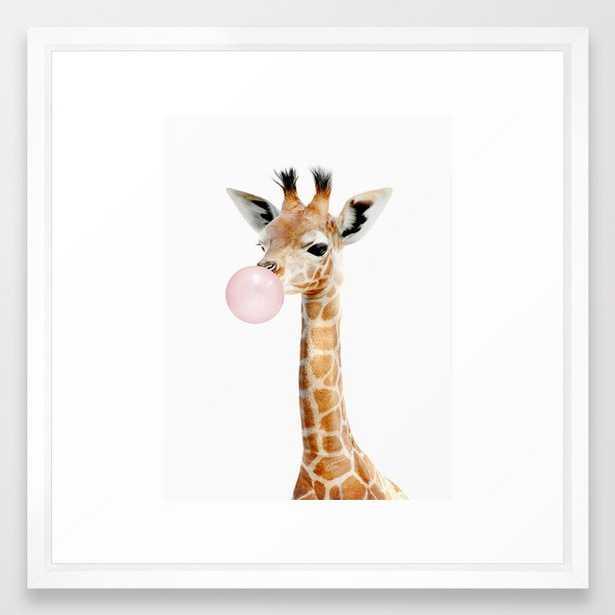 """Bubble Gum Baby Giraffe - 22"""" - vector white - Society6"""