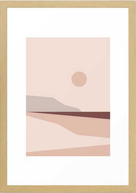 "Abstract Landscape 02 Framed Art Print,15"" X 21"" - Society6"