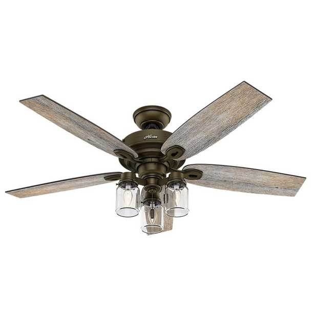 Hunter Crown Canyon 52 in. Indoor Regal Bronze Ceiling Fan - Home Depot