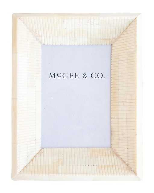 Stripe Natural Bone Frame, 4x6 - McGee & Co.