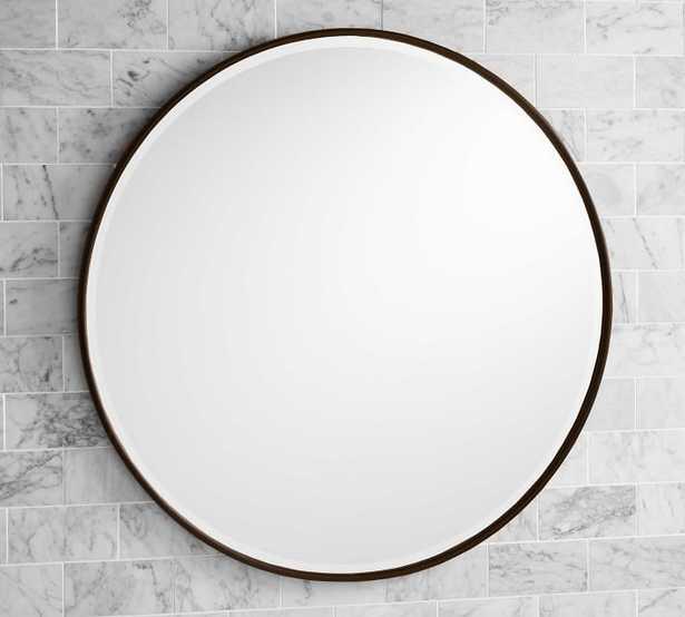 """Brass Vintage Round Mirror, 42"""" diameter - Pottery Barn"""