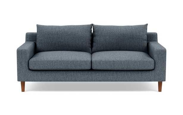 "Sloan Sofa in Rain Fabric with Oiled Walnut Leg- 75"" - Interior Define"