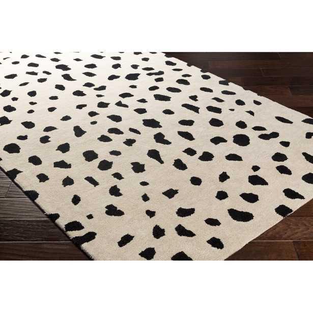 Bryan Hand-Tufted Wool Beige/Black Area Rug - Wayfair