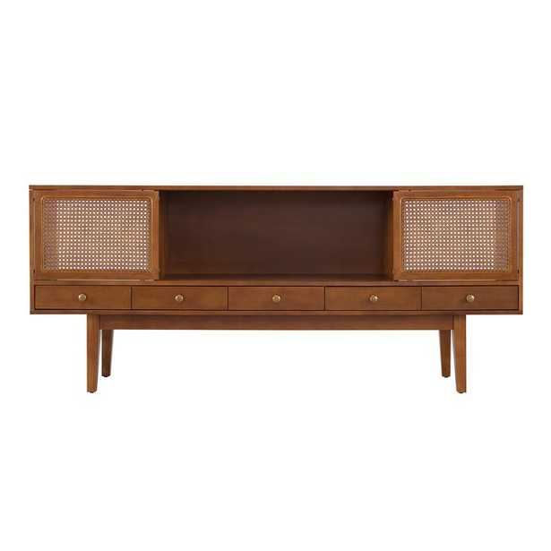 """George Oliver Dwight TV Stand for TVs up to 70"""" in Dark Tobacco - Wayfair"""