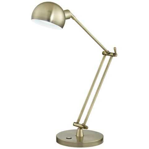 OttLite Refine LED Antique Brass Desk Lamp - Lamps Plus
