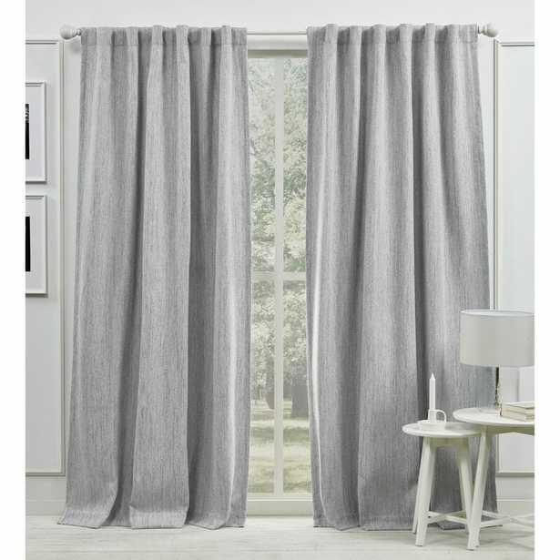 "Palisades Blackout Back Tab Solid Color Room Darkening Rod Pocket Single Curtain Panel, Silver, 50"" x 96"" - Wayfair"