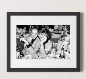 """David bowie and romy haag with black frame / 21.5""""X17.5"""" - CB2"""