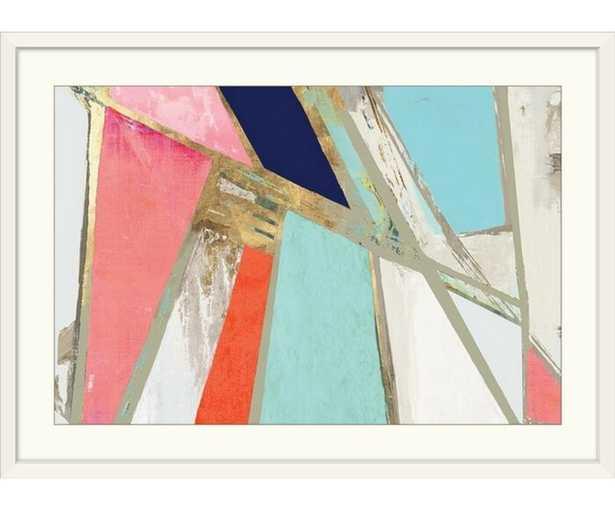 Warm Geometric by PI Studio - Picture Frame Print on Canvas - AllModern