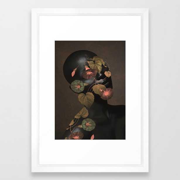 Floral Portrait 3 Framed Art Print - Society6