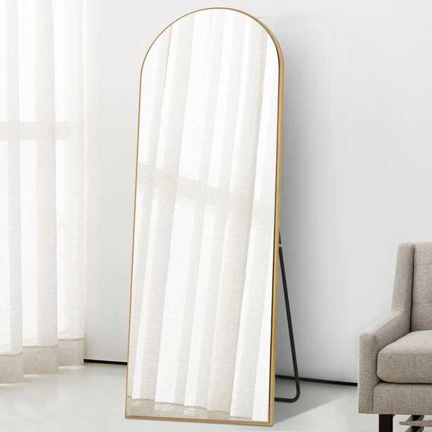 Greta Sleek Arched-Top Wall Mirror - Wayfair
