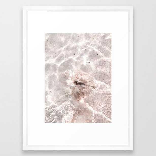"Ocean Clouds 2 Framed Art Print - Vector White, 20x26"" - Society6"