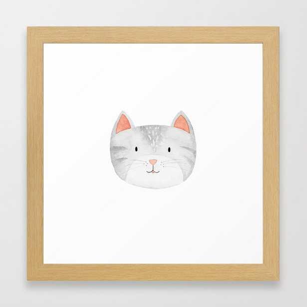 """Cat Nursery Framed Art Print, 12""""x12"""", Conservation Natural - Society6"""