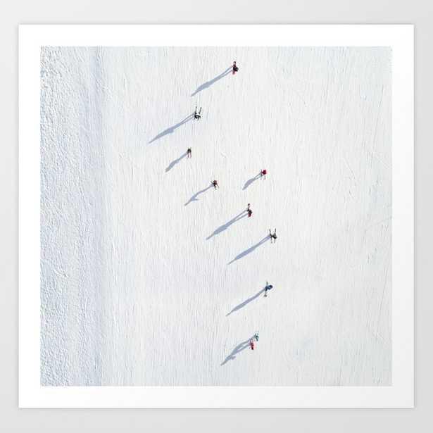 skiers Art Print - Society6