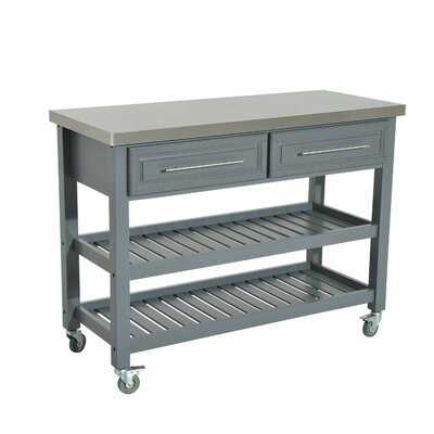 London 3 Tier Kitchen Cart with Stainless Steel Top - AllModern
