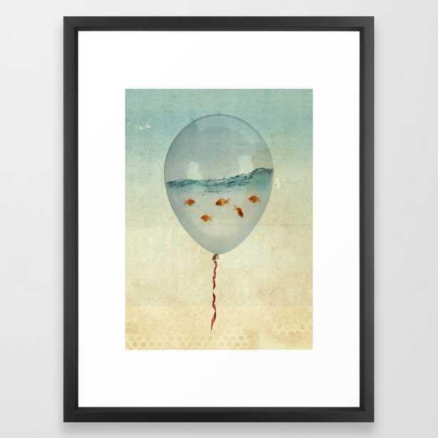 Balloon Fish Framed Art Print - Society6