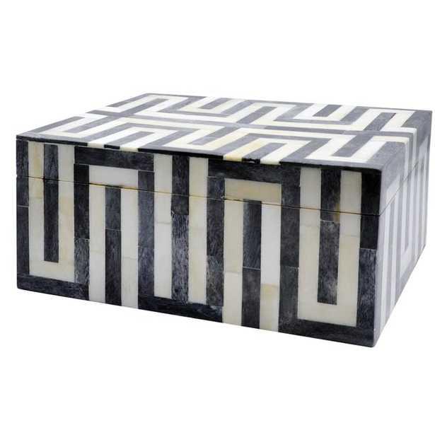 Geometric Patterned Resin Decorative Box - Perigold