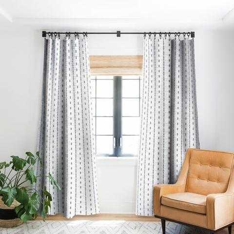 FRENCH LINEN TRIBAL STRIPE Blackout Window Curtain, 2 panels - Wander Print Co.
