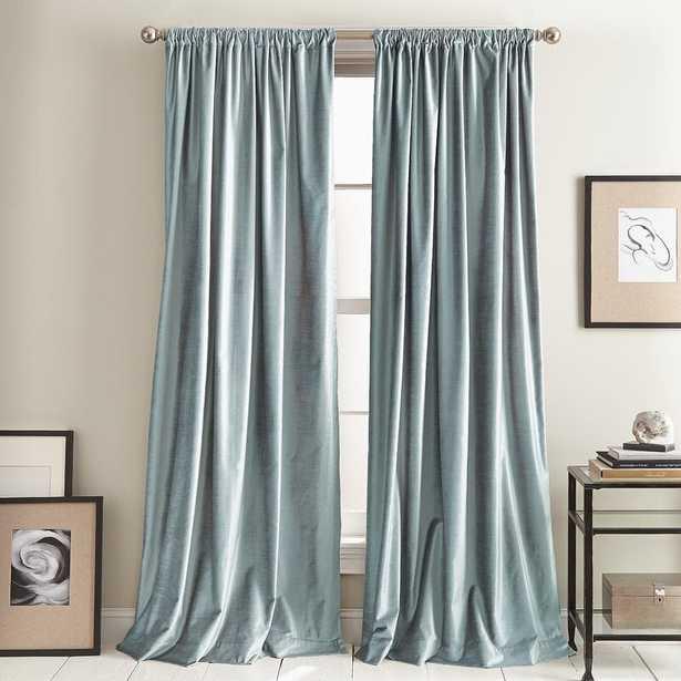 Modern Knotted Solid Room Darkening Rod Pocket Curtain Panels (Set of 2) - Wayfair
