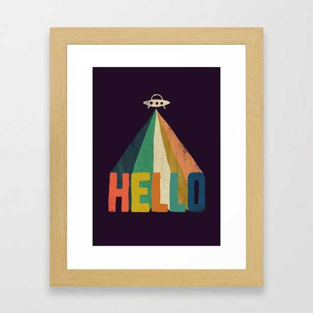 Hello I come in peace Framed Art Print - Society6