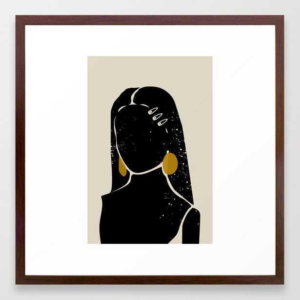 Black Hair No. 3 Framed Art Print - Society6