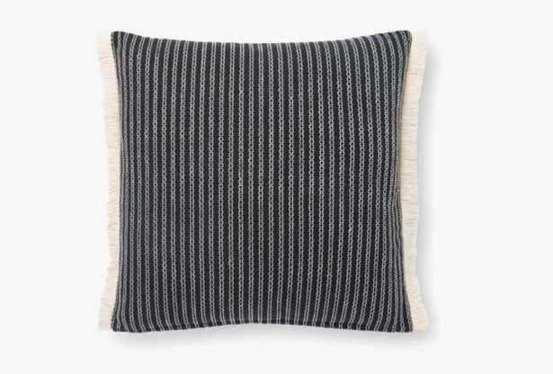 """Throw Pillow, Black, 18"""" x 18"""" - ED Ellen DeGeneres Crafted by Loloi Rugs"""