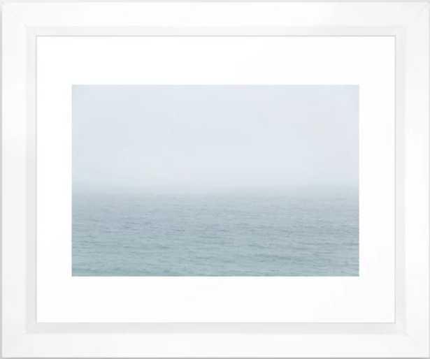 Foggy Sea Framed Art Print - 10 X 12, Vector White - Society6