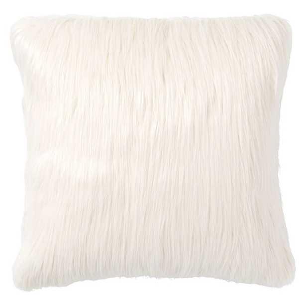 Fur-rific Faux-Fur Pillow Cover + Insert, Ivory - Pottery Barn Teen