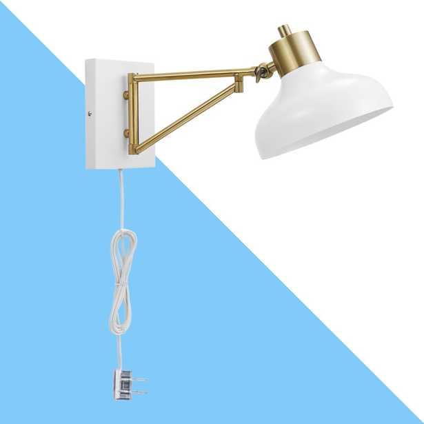 Arseni 1 - Light Brushed Brass Swing Arm - Wayfair