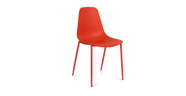 Svelti dining chair -  Poppy Red. Set of 2 - Article