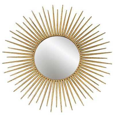 Greeson Golden-Gilt Burst Accent Mirror - Wayfair