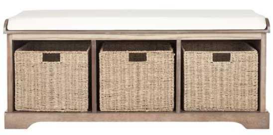 Roselli Upholstered Storage Bench - Wayfair