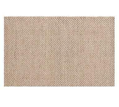 Chevron Wool Jute Rug, Mocha, 5 x 8' - Pottery Barn