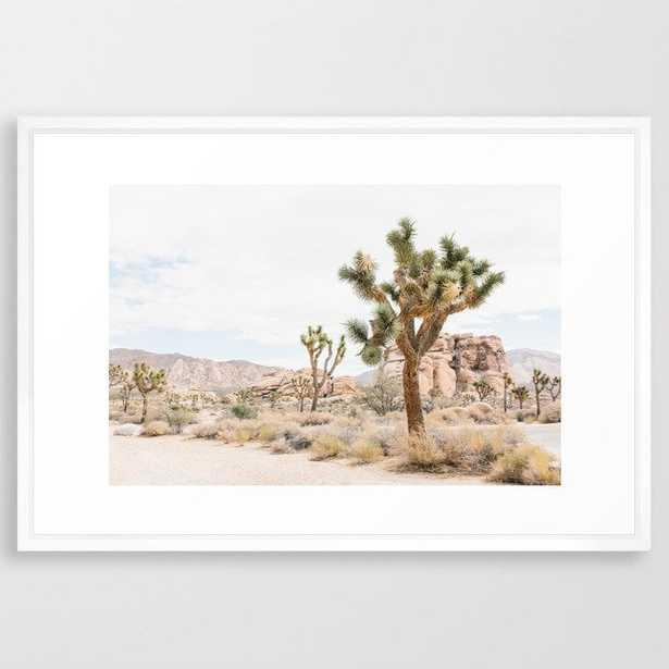 joshua tree boho cactus desert wall art landscape photography print Framed Art Print - Society6