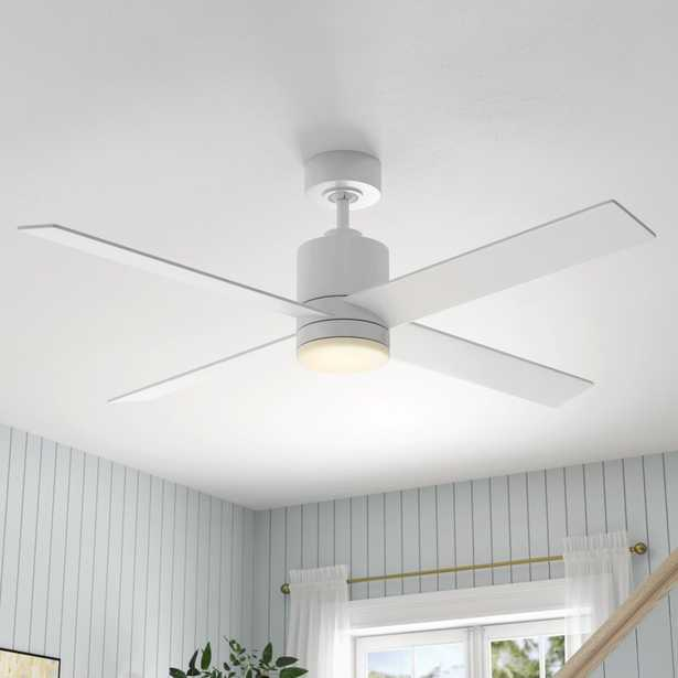 """52"""" Rinke 4 Blade Ceiling Fan with Remote, Light Kit Included - Wayfair"""