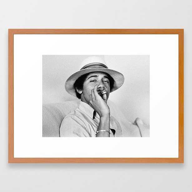 President Obama Smoking Framed Art Print - Society6