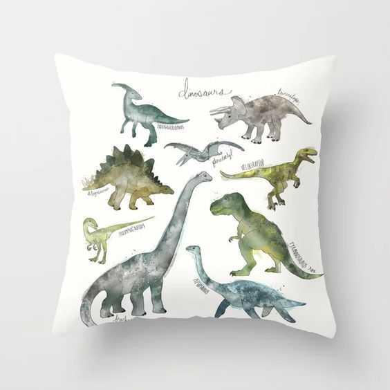 "Dinosaurs Throw Pillow 24 x 24"" - Society6"