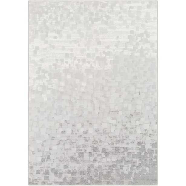 Shenk Abstract Light Gray/White Area Rug - Wayfair
