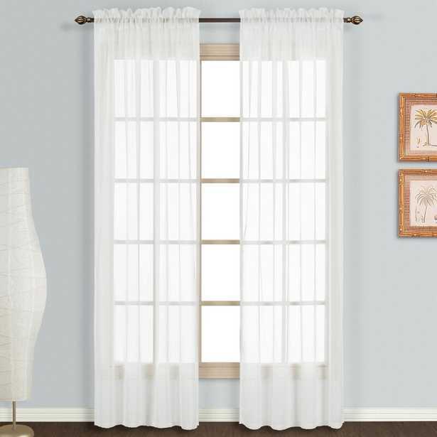Decimus Solid Sheer Rod Pocket Curtain Panels (Set of 2) - Wayfair