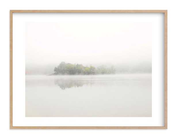The Island - 40 x 30, natural wood frame - Minted
