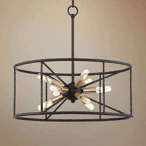 "Possini Euro La Vista 20 1/4"" Wide Black 9-Light Pendant - Lamps Plus"